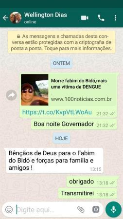 Governador Wellington Dias envia Sentimentos à Família do Fabim do Bidó.
