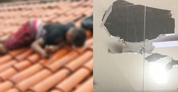 Assaltante é morto em cima de telhado de Armazém Paraíba