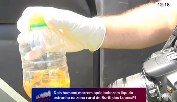 Dois homens morrem após beberem veneno achando que era cachaça no Piauí