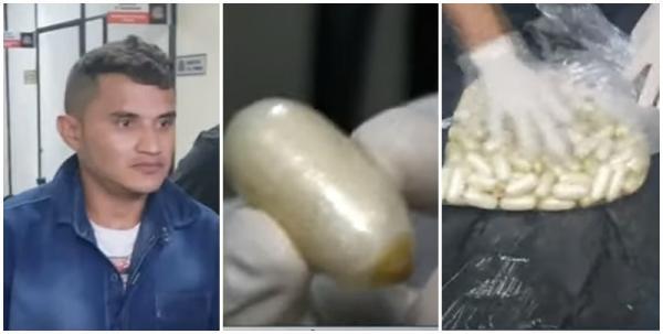 Piauiense é preso com 1kg de cocaína dentro do estômago em São Paulo