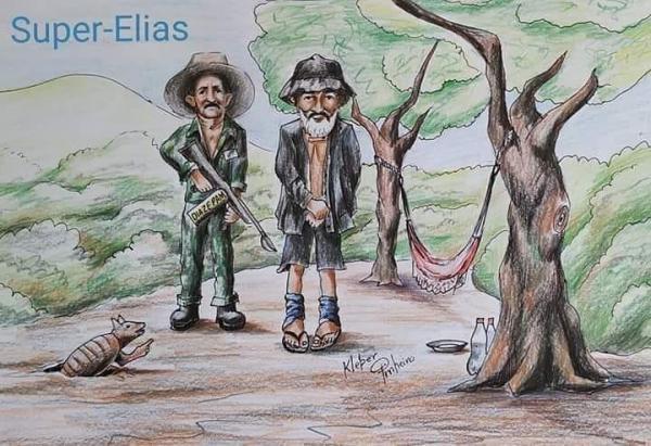 Artista homenageia vaqueiro piauiense que capturou Zé do Valério; 'Super-Elias'